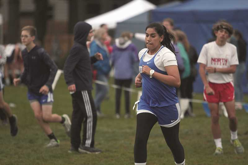 PMG PHOTO: PHIL HAWKINS - Senior Abby Gonzalez finished 72nd at Stayton with a time of 32:15.40.