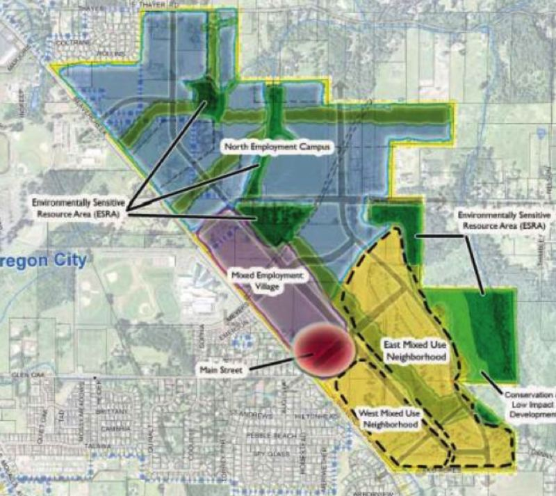 COURTESY PHOTO - Beavercreek Road Concept Plan is shown here.