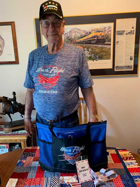 CAROL ROSEN - Canby's Clint 'Doc' Hickman recently returned from an Honor Flight experience in Washington, D.C.