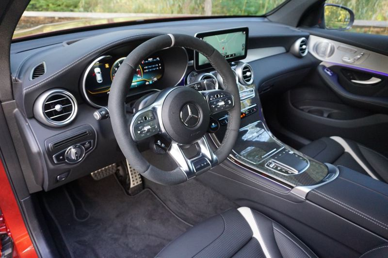 PMG PHOTO: JEFF ZURSCHMEIDE - The luxury is to be expected, but the big news inside the 2020 GLC is the next-generation Mercedes-Benz User eXperience (MBUX) infotainment and navigation system.
