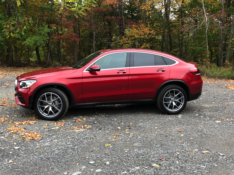PMG PHOTO: JEFF ZURSCHMEIDE - The 2020 Mercedes GLC is also available as a coupe.
