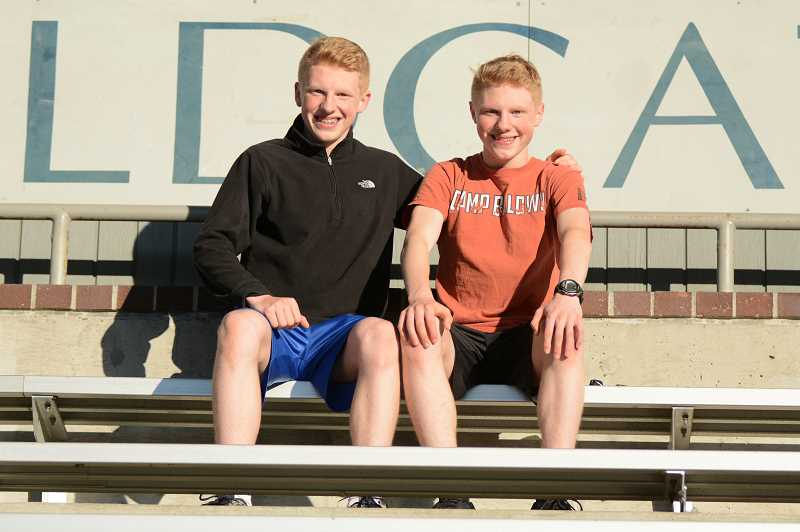 PMG PHOTO: DEREK WILEY - Ben McClelland, left, and Jacob McClelland are two of the fastest runners in the NWOC this season.