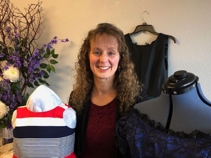 COURTESY PHOTO - Oregon City resident Carolyn Herberger, owner of Seams of Dreams, is planning a fashion show this Friday and Saturday at the Oregon City Golf Club.