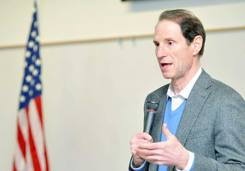 GRAPHIC FILE PHOTO - U.S. Sen. Ron Wyden has called for creation of a tax on investment earnings in order to close the gap in employee wages.