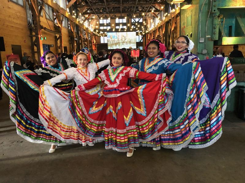 COURTESY PHOTO: LATINO NETWORK - Dancers from Ballet Folklorico Corazones Alegres were a big hit at the Latino Networks annual Noche Bella fundraising event in Portland earlier this fall.