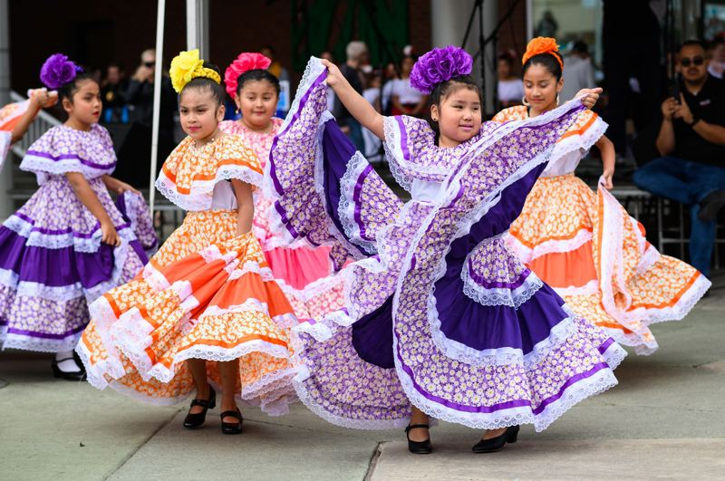 PMG PHOTO: CHRISTOPHER OERTELL - Dancers from Centro Culturals Ballet Folklorico & Academia Gabriela performed during Hillsboros Latino Cultural Festival in May.
