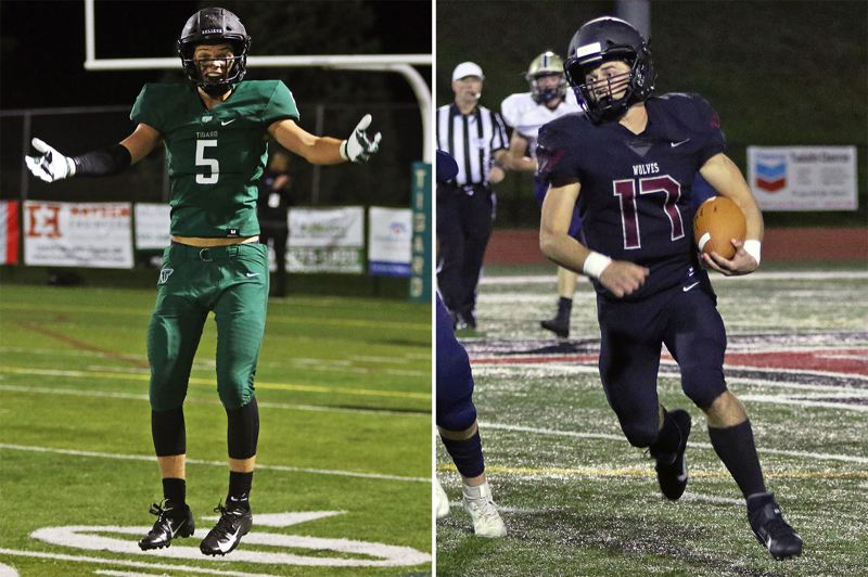 PMG PHOTOS: DAN BROOD - The Tigard and Tualatin football teams share space in their school district, and now, at the top of the Class 6A football coaches poll, with the Tigers currently ranked No. 1 and Tualatin at No. 2.