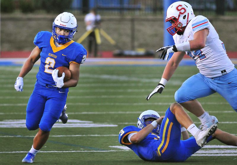 PMG PHOTO: GARY ALLEN - Newberg's Sonny Apilando and the 16th-ranked Tigers are back in action (Thursday, Oct. 10) tonight when they play at No. 26 Century at 7 p.m.