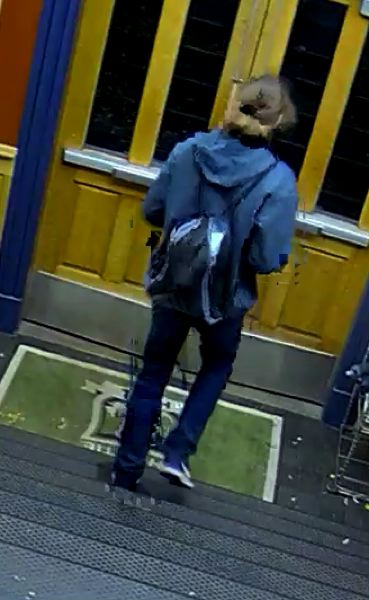 COURTESY OF PORTLAND POLICE BUREAU  - Surveillance footage shows Owen Klinger leaving the University of Portland campus Sunday evening, Oct. 6.