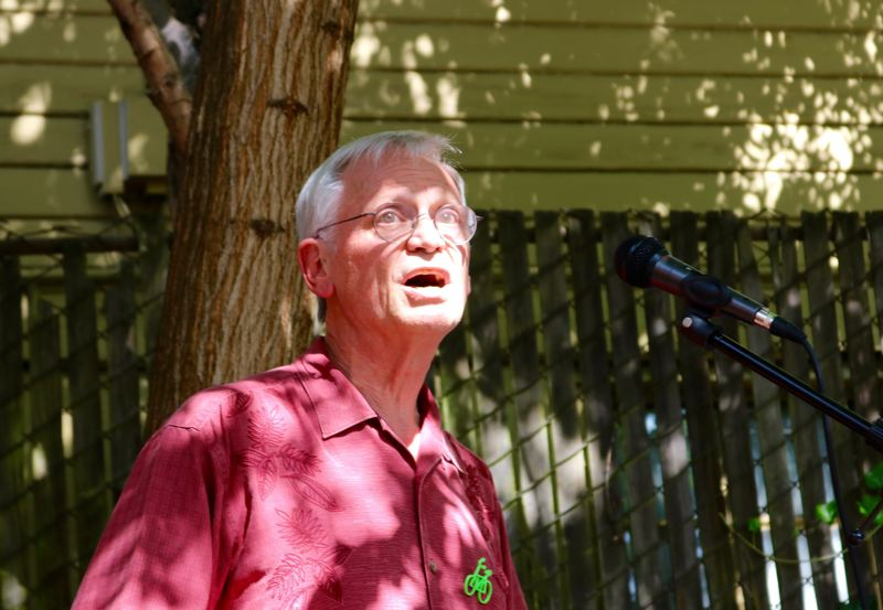 PMG PHOTO: ZANE SPARLING - Provenance Hotels says Rep. Earl Blumenauer, D-Oregon, shown at a Sierra Club rally in July, is pursuing an unethical campaign of intimidation regarding company founder Gordon Sondland's testimony to Congress about the Ukraine.