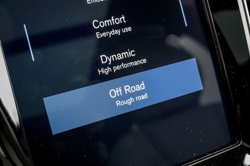 COURTESY VOLVO CAR COMPANY - Of-road capabilities are further enchanced by a 'Rough road' drive mode.