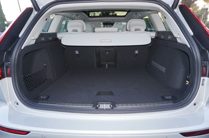 PMG PHOTO: JEFF ZURSCHMEIDE - Cargo space is what a station wagon is all about, the 2020 Volvo V60 has plenty.