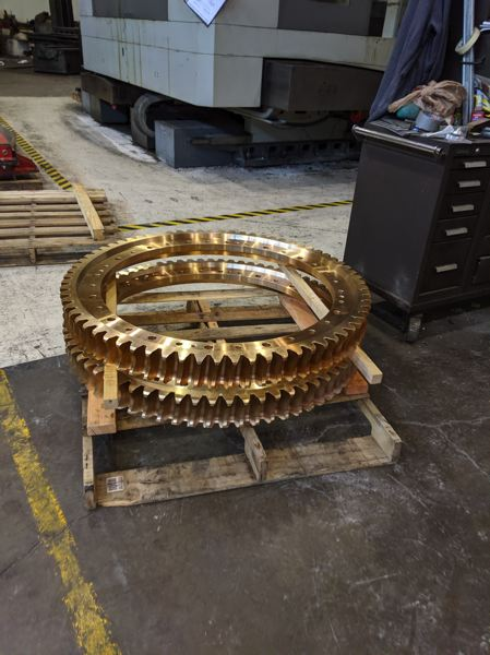 PAMPLIN MEDIA GROUP: JOSEPH GALLIVAN - A pallet with some finished gears.