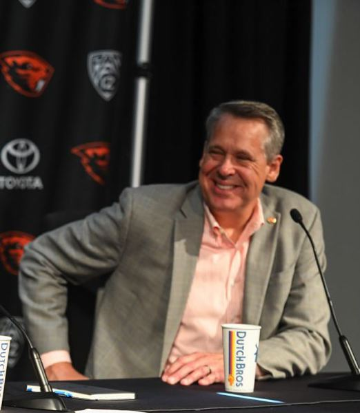 COURTESY PHOTO: KARL MAASDAM - Oregon State athletic director Scott Barnes is no fan of California's Fair Pay to Play Act.