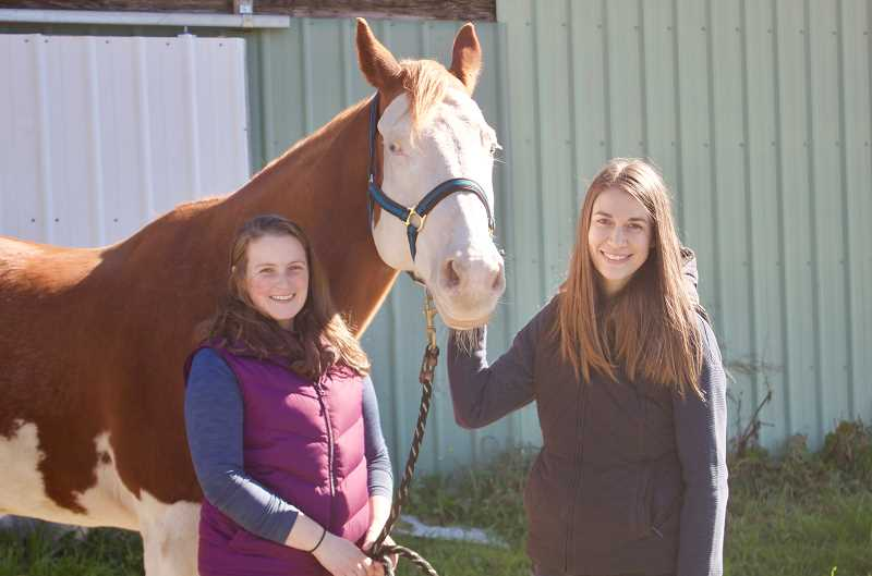 PMG PHOTO: CHRISTOPHER KEIZUR - Alycia Smith and Bethaney Clark have opened an equine counseling business a short drive from Troutdale.