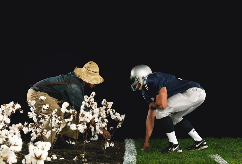 COURTESY PHOTO: PORTLAND ART MUSEUM - One of the works of Hank Willis Thomas, who is being featured in an exhibit at Portland Art Museum, is 'The Cotton Bowl.'