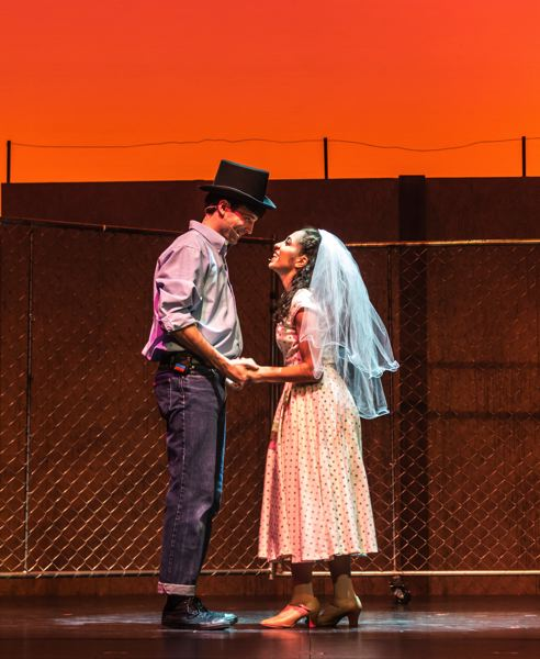 COURTESY PHOTO: PAUL FARDIG - Alexander Trull (Tony) and Tina Mascaro (Maria) star in Stumptown Stages' 'West Side Story.'