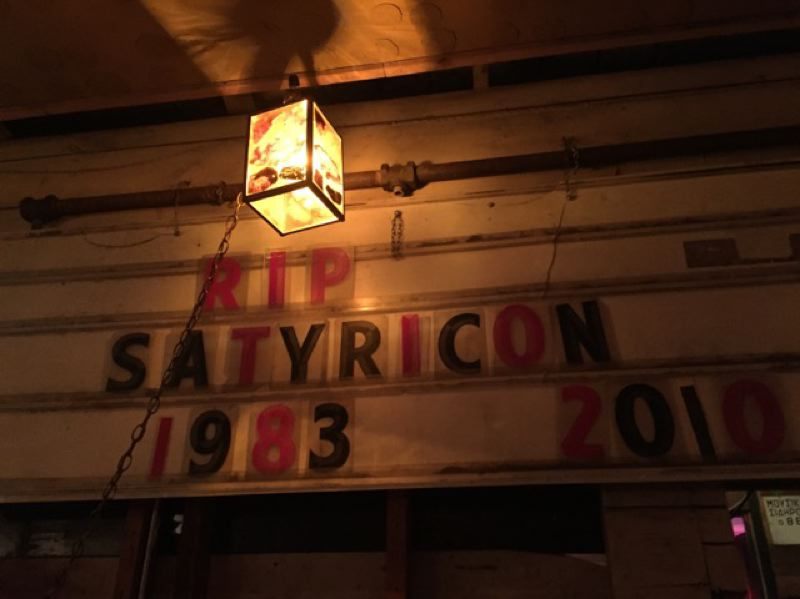 PMG PHOTO: MICHAELA BANCUD - The Old Portland Wine Bar pays tribute to the old music club Satyricon.