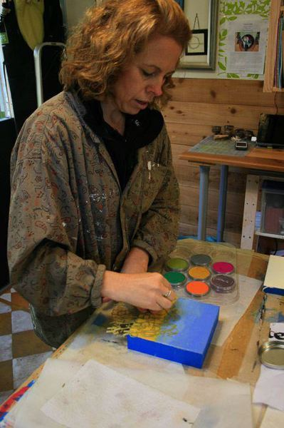 COURTESY PHOTO - Archaeologist and artist Virginia Parks will be showing off some of her encaustic paintings (painting using Occolored waxes) during this weekend's Washington County Open Studios Tour.
