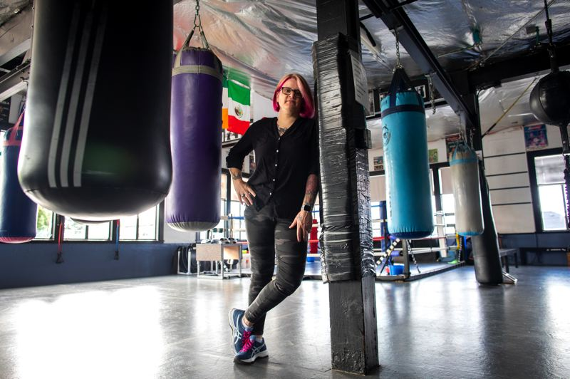 PMG PHOTO: JAIME VALDEZ - Recent Oregon Sports Hall of Fame inductee Molly McConnell remains active in boxing as a gym owner and a coach.