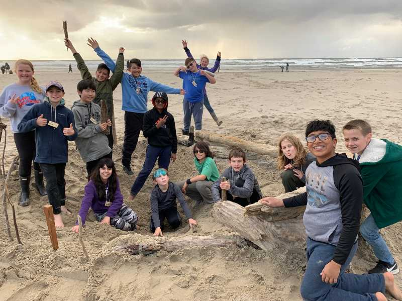 COURTESY PHOTO - LOJ sixth graders enjoyed the Rockaway Beach at the Outdoor School site Camp Magruder.