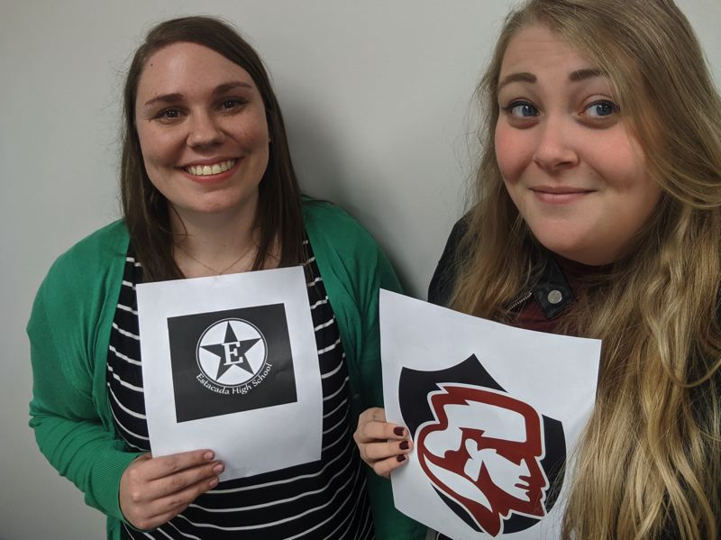 PMG PHOTO: BRITTANY ALLEN - Estacada News Reporter Emily Lindstrand and Sandy Post Reporter Brittany Allen want you to vote in the 2019 Fall Pamplin High School All-American Sports Awards.