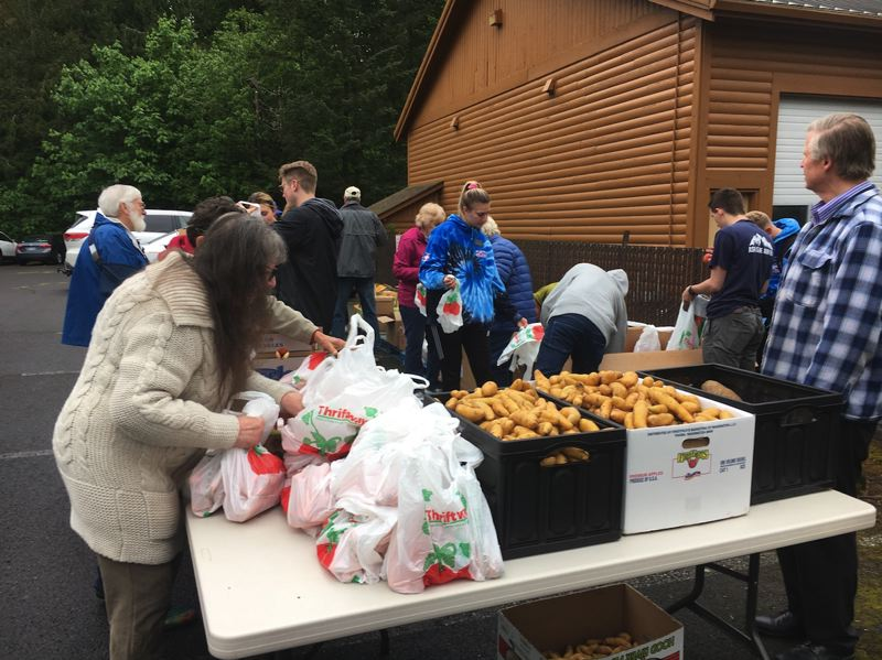 COURTESY PHOTO - Neighborhood Missions hosts a free food market at the Hoodland Senior Center, 65000 Highway 26, Welches, from 9-10 a.m. the last Monday of every month.