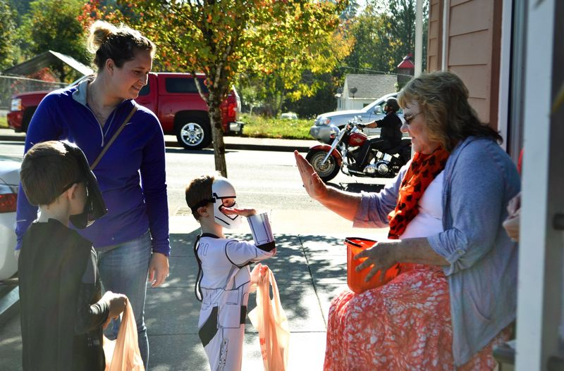 PMG FILE PHOTO - Last year more than 2,000 people came out to gather candy along the Trick or Treat Trail.