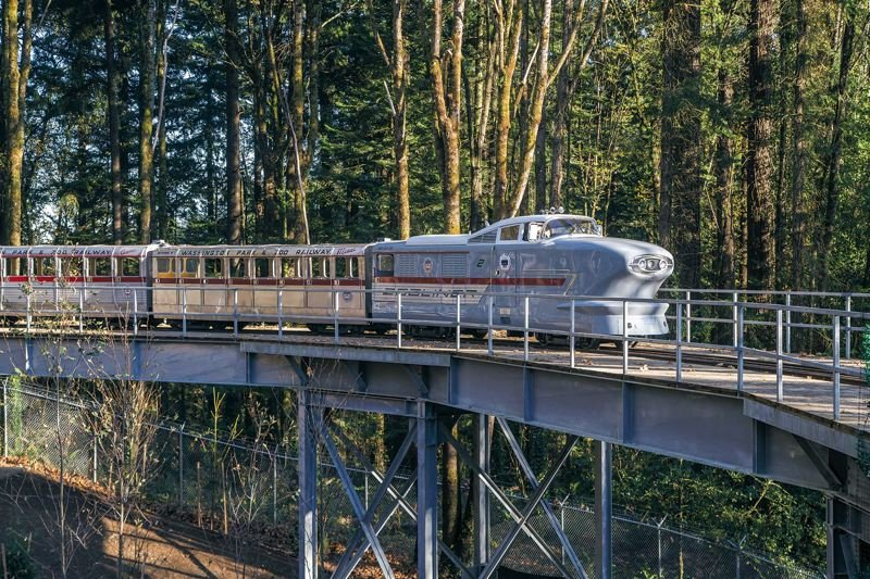 PMG FILE PHOTO - The Oregon Zoo train's full two-mile route could be named a national historic site. A state panel agreed Friday, Oct. 18, to nominate the railway route to the National Register of Historic Places.