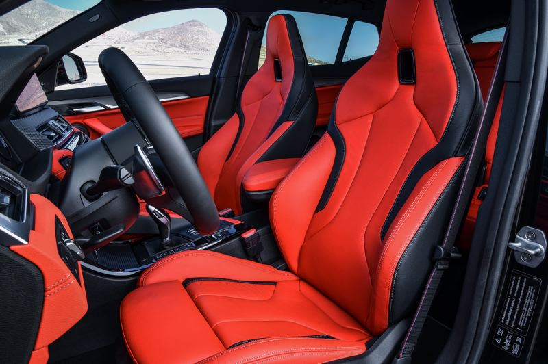 BMW OF NORTH AMERICA - The deeply sculpted sports bucket seats in the BMW X2 35i help hold the driver and passenger in place during hard cornering.