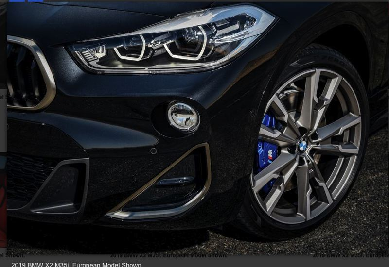 BMW OF NORTH AMERICA - The M performance package include huge disc brakes at all four corners.