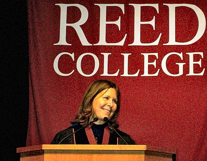 RITA A. LEONARD - Audrey Bilger, MA, PhD, was introduced on October 4 as Reed Colleges new President.