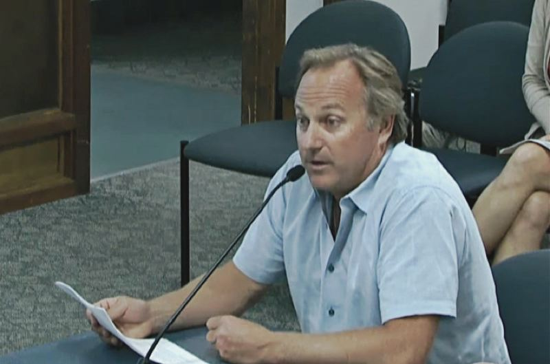 PMG FILE PHOTO - Charles Arnell testifying at public hearing.