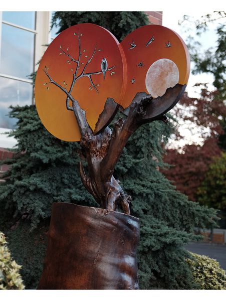 COURTESY PHOTO: HAMID SHIBATA BENNETT - This sculpture, 'What Comes Around,' is an example of how Jennifer Kapnek finds a 'quiet poetry' in working with wood.