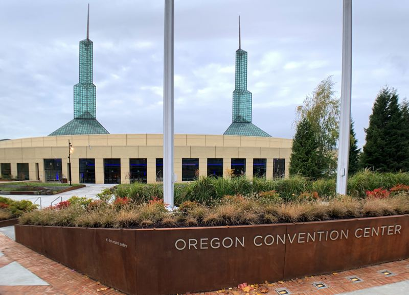PMG PHOTO: JAIME VALDEZ - A one-year, $40 million renovation of the Oregon Convention Center resulted in a new north plaza as well as interior upgrades that included new carpeting and wall treatments and a revamped main ballroom.