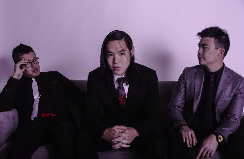 COURTESY PHOTO: JADY BATES - Popular club band The Slants are calling it a career, as far as making albums and touring. Current members are: (from left) Joe X. Jiang, Ken Shima, Simon Tam.