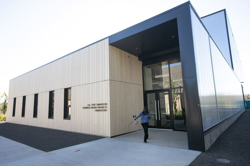 PMG PHOTO: AMANDA LOMAN - The new home of the Tallwood Design Institute at Oregon State University.