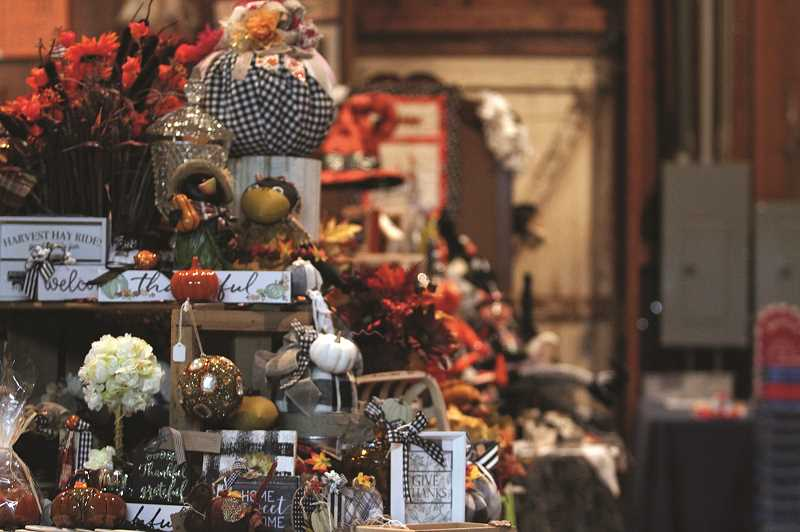 PMG PHOTO: PHIL HAWKINS - Though the bazaar is comprised primary of Christmas-themed items, there are plenty of fall and Halloween-centric gifts that will remain on display throughout the 10-week sale.