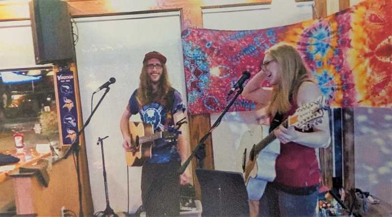 COURTESY PHOTO - Cosmic Strings consists of Emma and Spencer Houghton. They will soon play at Clackamas River Growlers.