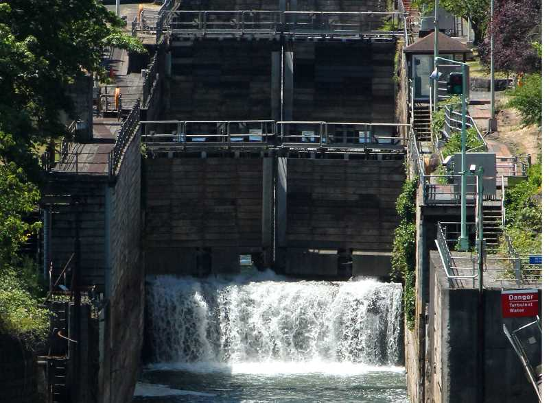 PMG FILE PHOTO  -  The locks allow commercial and recreational boats to travel from one side of the falls to the other.