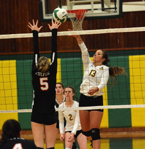 PMG PHOTO: DEREK WILEY - Colton senior Olivia Spitzer had 10 kills Monday against Culver.