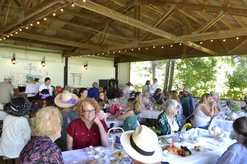 PMG FILE PHOTO - Every June the park welcomes the community in for a tea party fundraiser.