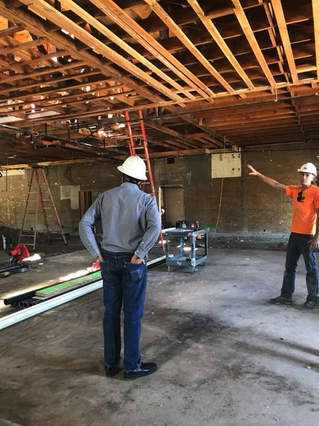 COURTESY PHOTO: PLANNED PARENTHOOD COLUMBIA WILLAMETTE - Construction crews work on renovating the former Dukes Country Bar & Grill on Southeast Division Street.