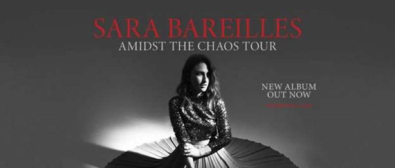 COURTESY PHOTO - Sara Bareilles, on her 'Amidst the Chaos' tour, performs at Veterans Memorial Coliseum, Oct. 24.