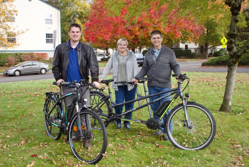 PMG PHOTO: CHRISTOPHER KEIZUR - Greshams New World eBikes is a family passion for Aaron, Kathleen and James Kammeyer.