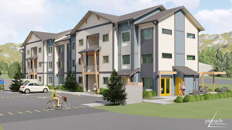 ILLUSTRATION BY PINNACLE ARCHITECTURE - A new 23-unit apartment complex is under construction on Jefferson Street.