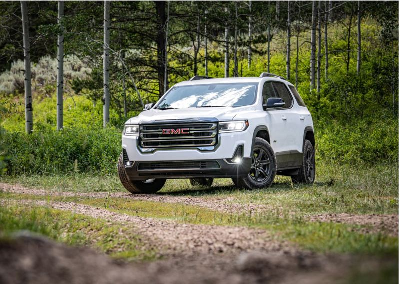 COURTESY GMC - The 2020 GMC Acadia AWD AT4 is a good looking, well designed, and surprsingly fun to drive mid-size crossover SUV that can be ordered with two or three rows of seating.