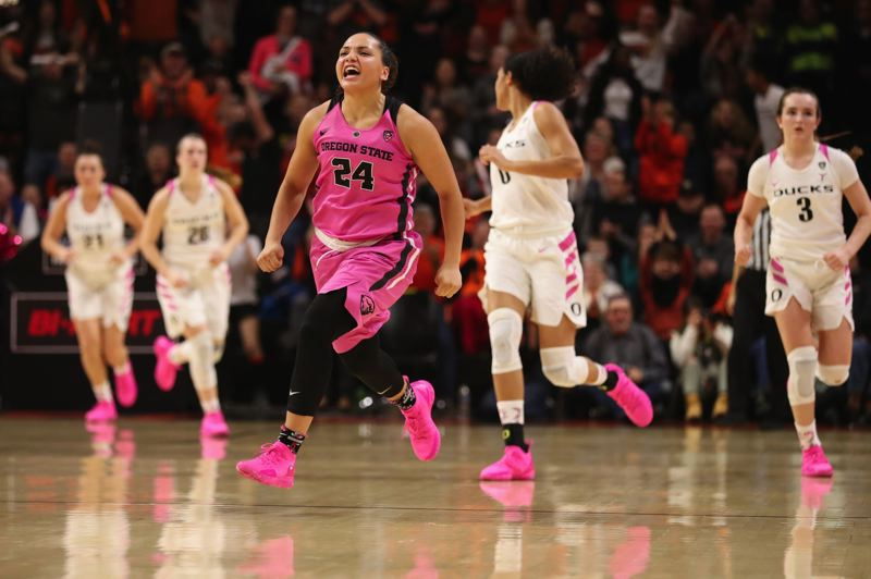 PMG FILE PHOTO: JAIME VALDEZ - Oregon State's Destiny Slocum says the Beavers have the best backcourt rotation in the country going into this season.