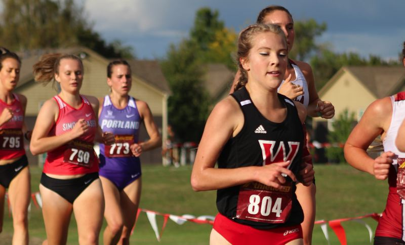 WESTERN OREGON ATHLETICS: BRIAN KORTZ - Western Oregon senior Grace Knapp (804) led the Wolves with a fifth-place overall finish at last weekends conference championship meet.