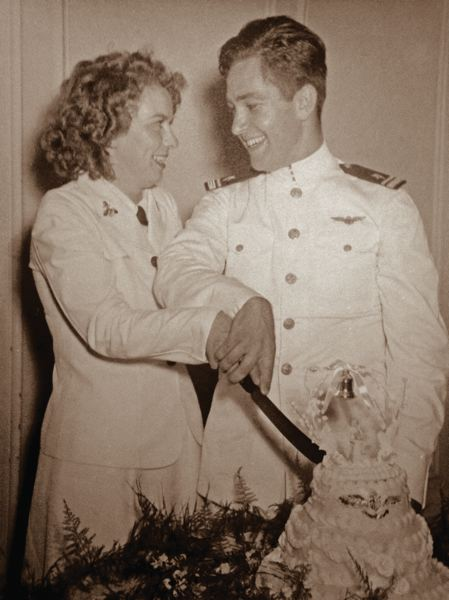 COURTESY PHOTOS - Navy Lt. Com. George Bickford met his wife of 60 years, Edith Ann, in Atlanta when she was a first-class Navy airman teaching other technicians.